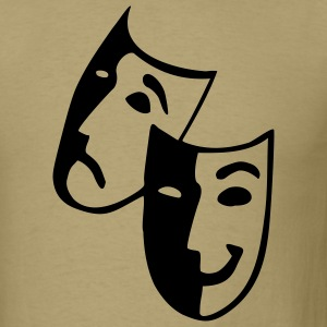 Khaki Masks - Theater - Actor T-Shirts (Short sleeve) - Men's T-Shirt