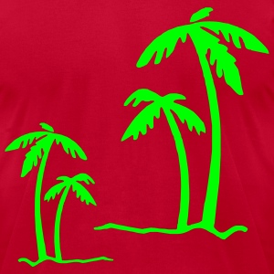 Aqua Beach Summer Sun Ocean Sea Holiday Palms T-Shirts (Short sleeve) - Men's T-Shirt by American Apparel