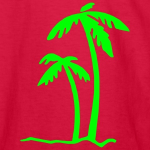 Red Beach Summer Sun Ocean Sea Holiday Palms Kids Shirts - Kids' Long Sleeve T-Shirt