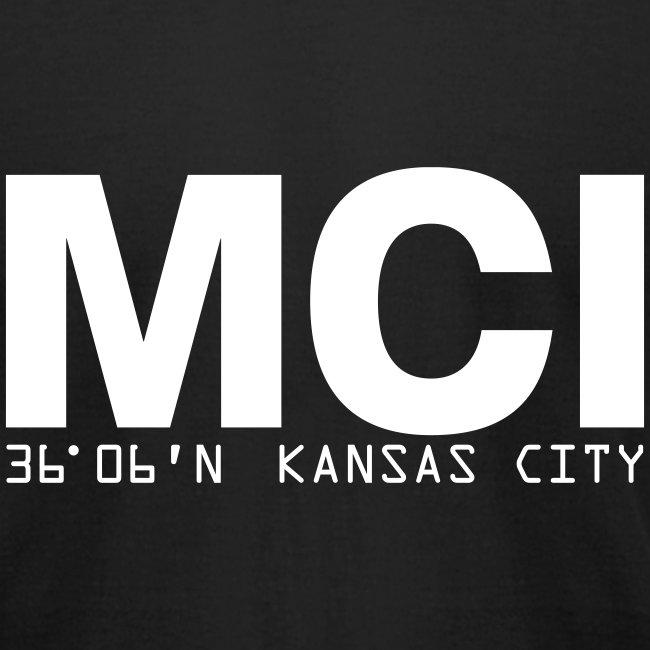 Kansas City Airport Code MCI Missouri  Fitted T-Shirt