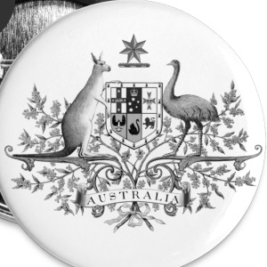 Australia Button BW by Burleigh - Small Buttons