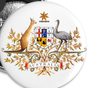 White Australia Coatof Arms Color by Burleigh Buttons - Small Buttons