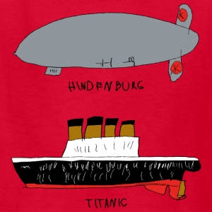 hindenburg & Titanic Kid's Drawing - Kids' T-Shirt