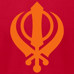 Sikh Khanda - Men's T-Shirt by American Apparel
