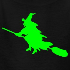 Black witch broom Kids Shirts