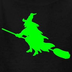 Black witch broom Kids Shirts - Kids' T-Shirt