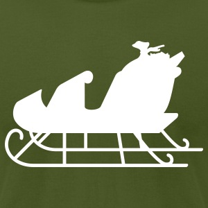 Olive sleigh T-Shirts (Short sleeve) - Men's T-Shirt by American Apparel