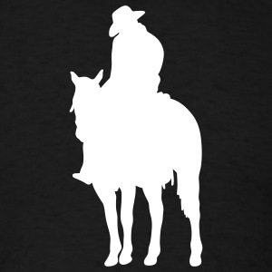 Black cowboy sleepy T-Shirts (Short sleeve) - Men's T-Shirt