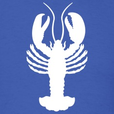 Royal blue lobster T-Shirts (Short sleeve)