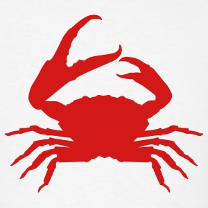 White crab T-Shirts (Short sleeve) - Men's T-Shirt