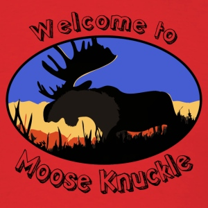 Red Hilarious Moose knuckle Design T-Shirts - Men's T-Shirt