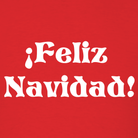 Design ~ MERRY CHRISTMAS T-Shirt-Feliz Navidad T-Shirt