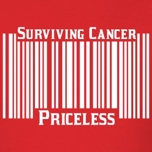 Red Surviving Cancer Priceless T-Shirts - Men's T-Shirt