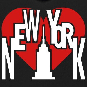 Black New York With Big Heart And Tall Building Sweatshirts - Kids' Hoodie