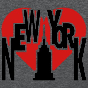 Deep heather New York With Big Heart And Tall Building Women's Tees (Short sleeve) - Women's T-Shirt