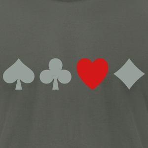 Poker Love - Men's T-Shirt by American Apparel