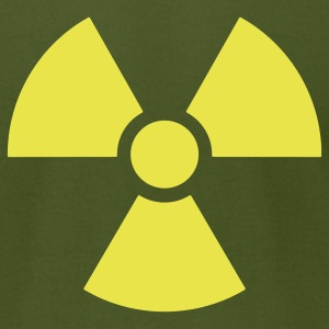 Radiation Symbol - Men's T-Shirt by American Apparel