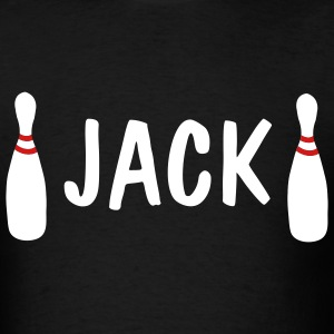 Black Bowling Split T-Shirts (Short sleeve) - Men's T-Shirt