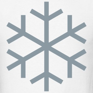 White Snowflake T-Shirts (Short sleeve) - Men's T-Shirt