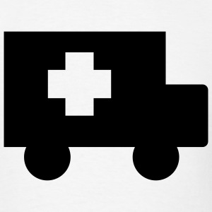White Ambulance T-Shirts (Short sleeve) - Men's T-Shirt