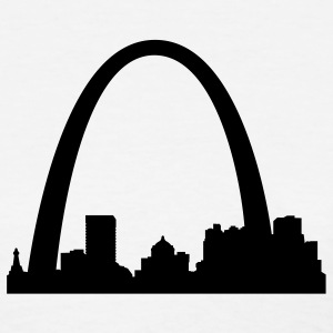 White St.Louis Skyline Women's Tees (Short sleeve) - Women's T-Shirt