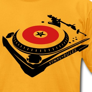 ::VINYL RULES:: - Men's T-Shirt by American Apparel