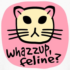 White Whazzup, Feline? Kids Shirts - Kids' Long Sleeve T-Shirt
