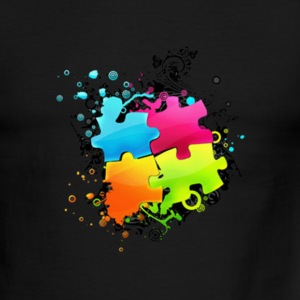 Connect The Puzzle - Men's Ringer T-Shirt