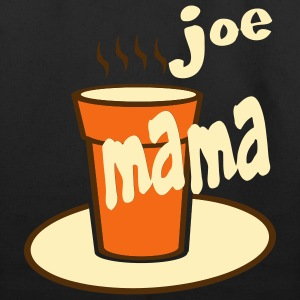 Black Joe Mama With Large Coffee Cup Bags  - Eco-Friendly Cotton Tote