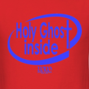 Red ***12% Rebate - See details!*** Holy Ghost Inside (whol-e.com) T-Shirts (Short sleeve) - Men's T-Shirt