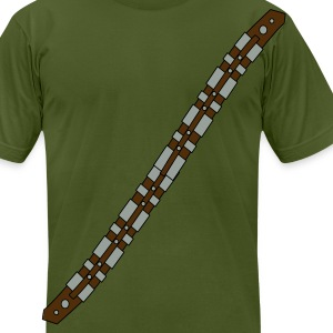 Olive soldier gun strap T-Shirts (Short sleeve) - Men's T-Shirt by American Apparel