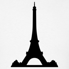 White Eiffel Tower T-Shirts (Short sleeve)