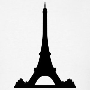 White Eiffel Tower T-Shirts (Short sleeve) - Men's T-Shirt