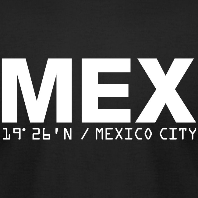 Mexico City Airport Code  MEX Fitted T-shirt