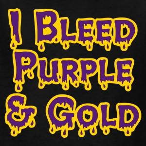 Black I Bleed Purple and Gold for LSU Kids Shirts - Kids' T-Shirt