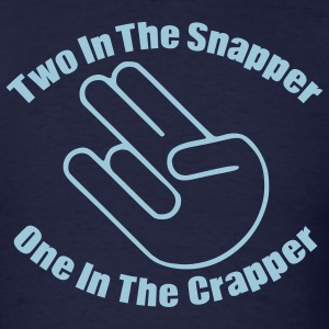 Navy Two In The Snapper Shocker T-Shirts - Men's T-Shirt