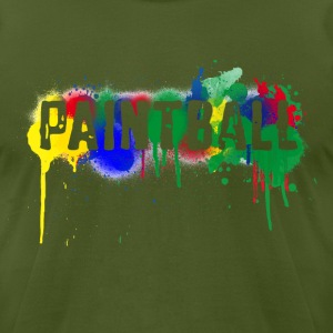Paintball T-Shirts (Short sleeve) Olive - Men's T-Shirt by American Apparel