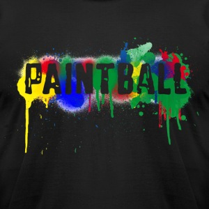 Paintball T-Shirts (Short sleeve) Black - Men's T-Shirt by American Apparel
