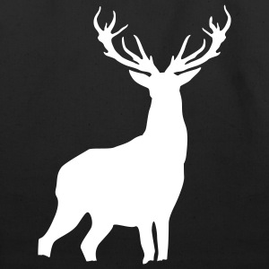 Black Deer with antlers Bags  - Eco-Friendly Cotton Tote