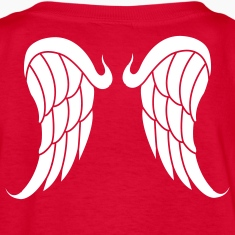 Red Angel wings Kids Shirts