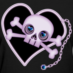 Purple Neon Skull - Women's T-Shirt