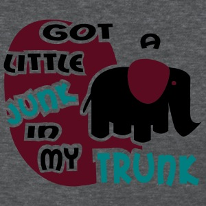 Deep heather Got A Little Junk In My Trunk With Elephant Women's Tees (Short sleeve) - Women's T-Shirt