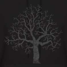 Black Roots Tree Design Transparent Hoodies