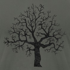 Asphalt Roots Tree Design T-Shirts (Short sleeve)