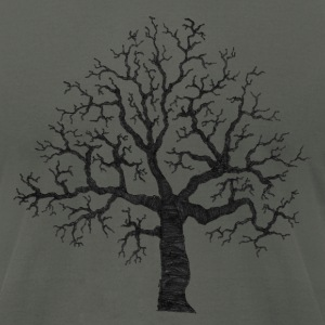 Asphalt Roots Tree Design T-Shirts (Short sleeve) - Men's T-Shirt by American Apparel