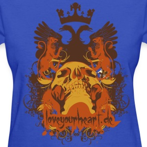Light blue Skull Women's Tees (Short sleeve) - Women's T-Shirt