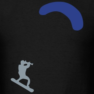 Black Kiteboarder T-Shirts (Short sleeve) - Men's T-Shirt