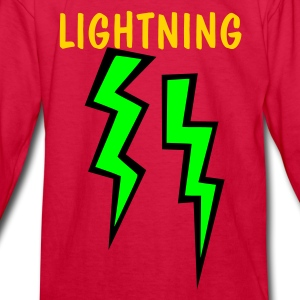 Red two two colored lightning bolts Kids' Shirts - Kids' Long Sleeve T-Shirt