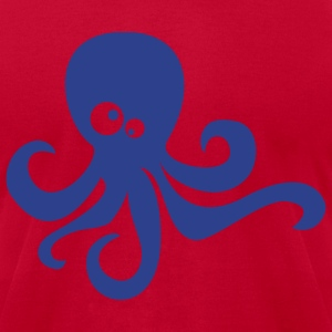 Red octopus T-Shirts - Men's T-Shirt by American Apparel