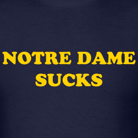 Design ~ Notre Dame Sucks (front and back)